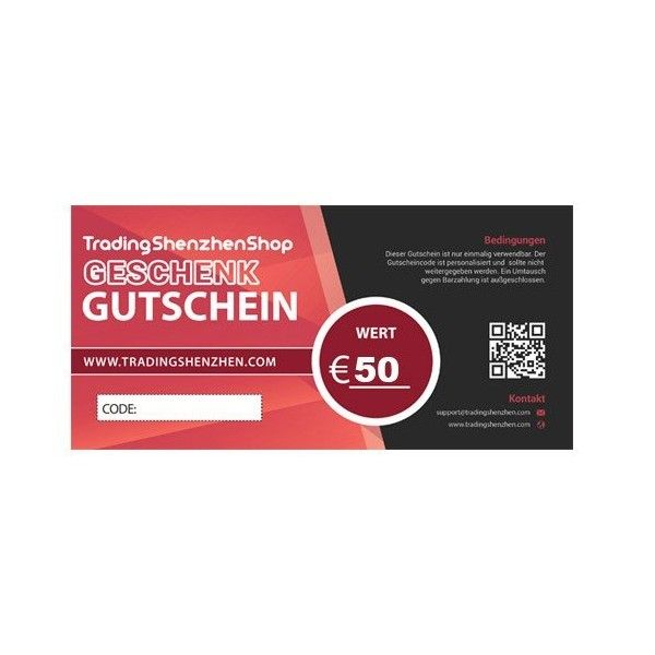 50€ voucher - Gift Coupon