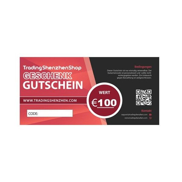 100€ voucher - Gift Coupon