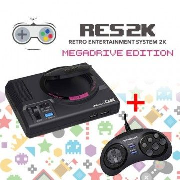 RES2k - MEGADRIVE Version - inkl. Retroflag USB Controller
