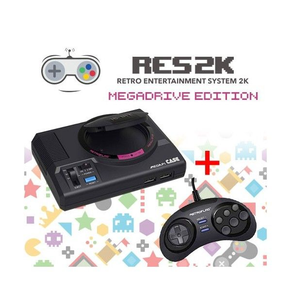 RES2k - MEGADRIVE Version - incl. Retroflag USB Controller - Res2k - TradingShenzhen.com