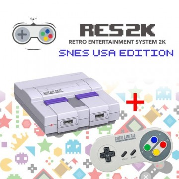 RES2k - SNES USA Version - incl. Retroflag USB Controller
