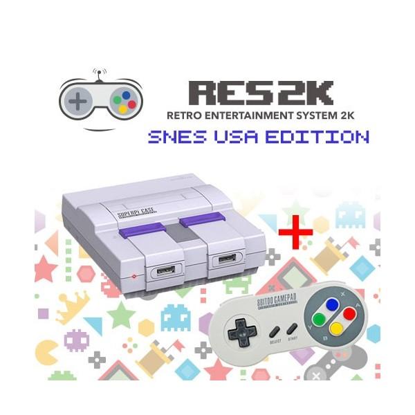 RES2k - SNES USA Version - inkl. Retroflag USB Controller - Res2k | Tradingshenzhen.com
