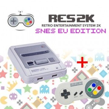 RES2k - SNES EU Version - incl. Retroflag USB Controller