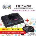 RES2k - MEGADRIVE Version - incl. Retroflag USB Controller - EU Warehouse