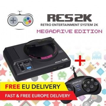 RES2k - MEGADRIVE Version - incl. Retroflag USB Controller - EU Warehouse