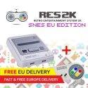 RES2k - SNES EU Version - incl. Retroflag USB Controller - EU Warehouse
