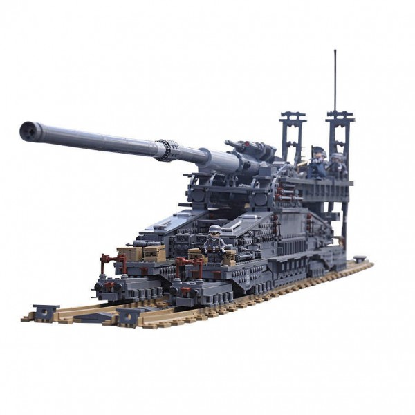 KAZI KY10005 German Railway Gun Dora - 3846 parts - figures included - KAZI - TradingShenzhen.com