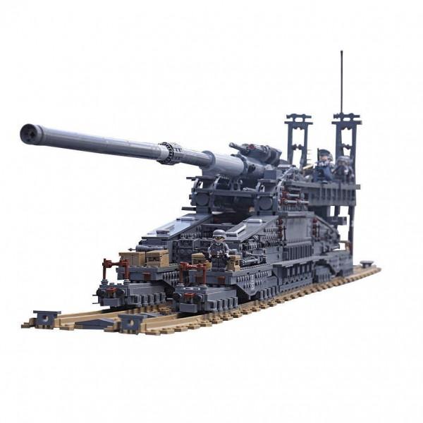 KAZI KY10005 German Railway Gun Dora - 3846 Teile - Figuren inklusive - KAZI - TradingShenzhen.com