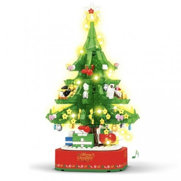 Sembo 601097 Christmas Tree Music Box with Lights - 486 parts - SEMBO - TradingShenzhen.com