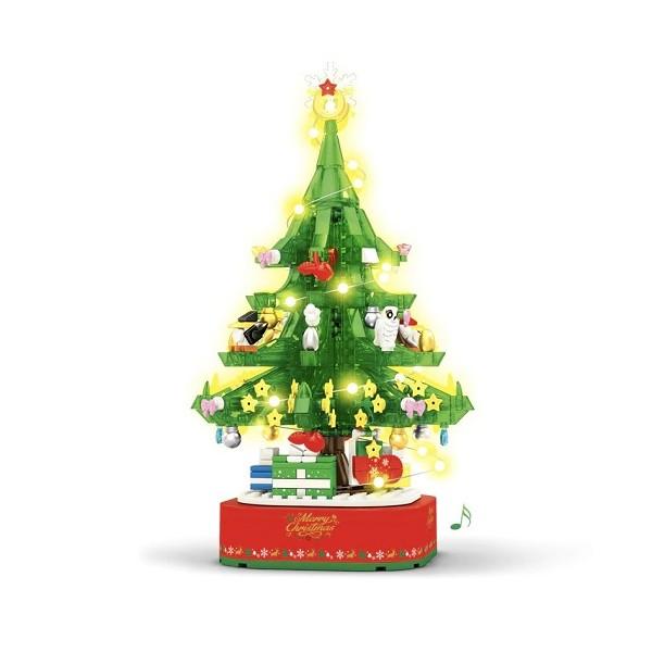 Sembo 601097 Christmas Tree Music Box with Lights - 486 Teile - SEMBO - TradingShenzhen.com