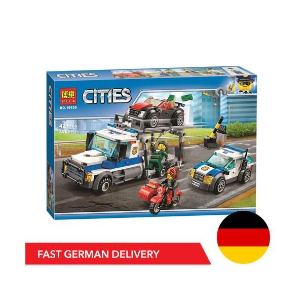 Bela Cities 10658 - 427 Teile - 4 Fahrzeuge - 4 Minifiguren - DE LAGER - Mould King - TradingShenzhen.com