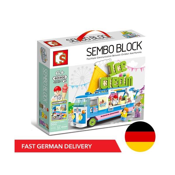 Sembo 601300 Ice Cream Truck - 453 components - DE WAREHOUSE - SEMBO - TradingShenzhen.com