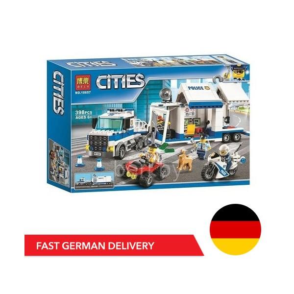 Bela Cities 10657 Mobile Operations Center - 398 bricks - DE WAREHOUSE - Bela Cities - TradingShenzhen.com