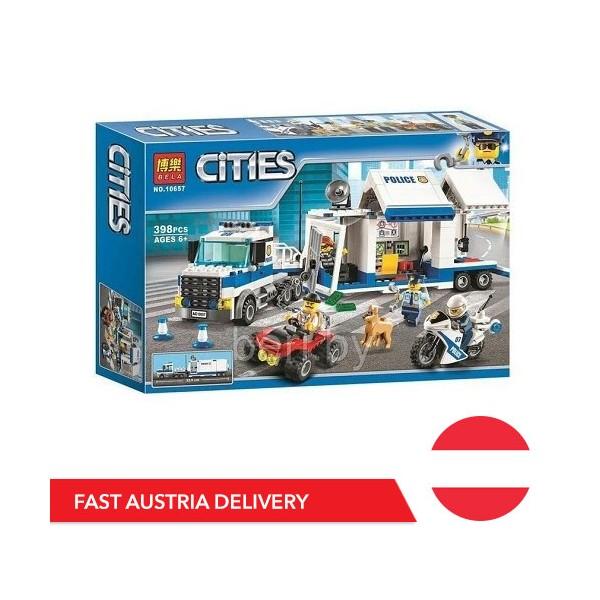 Bela Cities 10657 Mobile Einsatzzentrale - 398 Bausteine - AT Lager - Bela Cities - TradingShenzhen.com