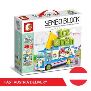 Sembo 601300 Ice Cream Truck - 453 components - SEMBO - TradingShenzhen.com