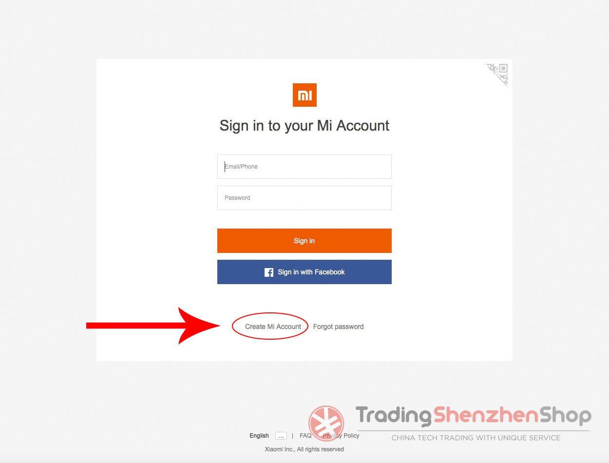 Create Xiaomi Mi Account Tutorial 1