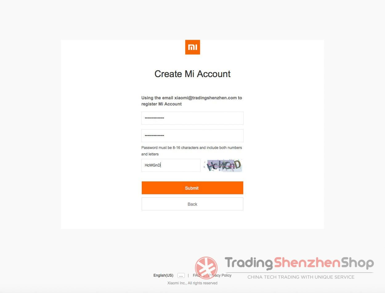 Create Xiaomi Mi Account Tutorial 3