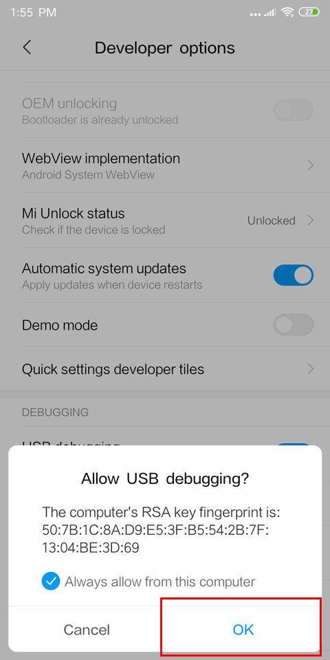 XIaoMi Tool Bootloader Unlock 5