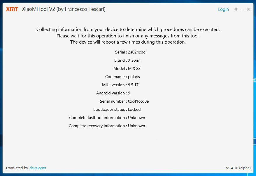 XIaoMi Tool Bootloader Unlock 7