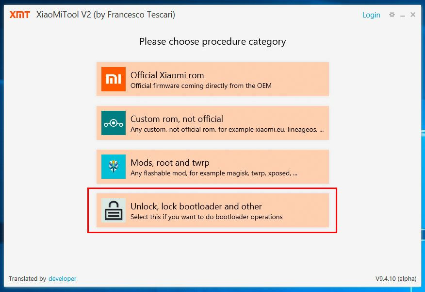 XIaoMi Tool Bootloader Unlock 8