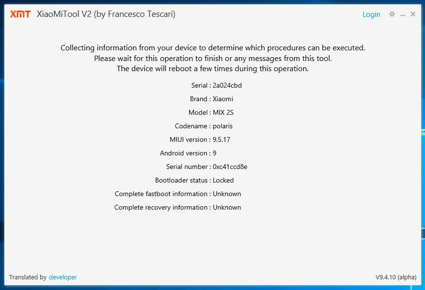 XiaoMi Tool Global Firmware Installation 3