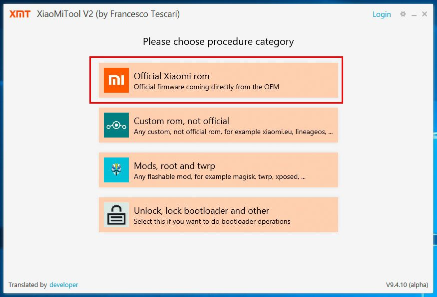 XiaoMi Tool Global Firmware Installation 5