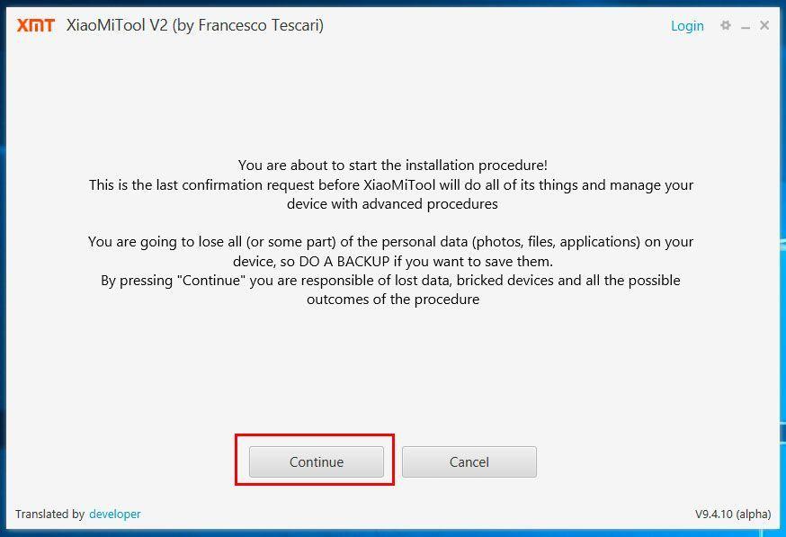 XiaoMi Tool Global Firmware Installation 7