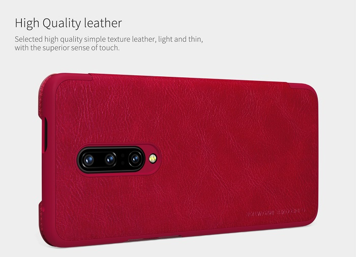 buy oneplus 7 pro qin leather flipcover  nillkin